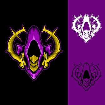 Holy magician: logo e-sport gaming