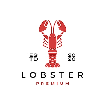Homard craw fish fruits de mer logo icône illustration