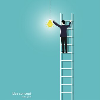 Homme d'affaires allumer les lumières