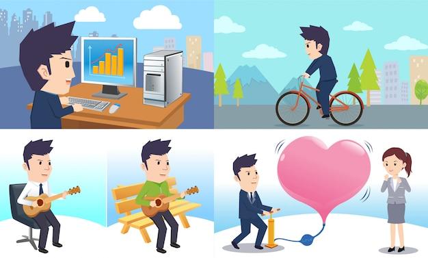 Homme d'affaires en amoureux