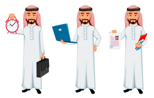 Homme d'affaires arabe moderne