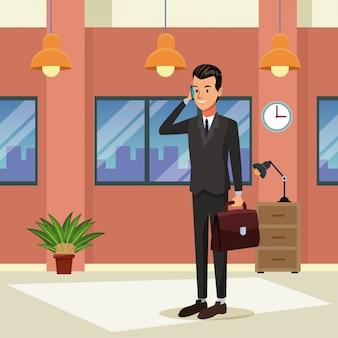 Homme d'affaires au bureau