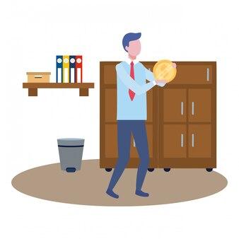 Homme d'affaires avatar de dessin animé