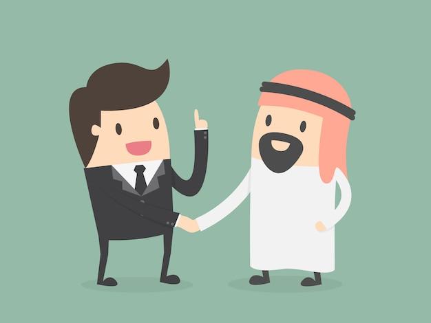 Homme d'affaires avec un cheikh