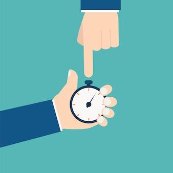 Homme d'affaires avec chronomètre