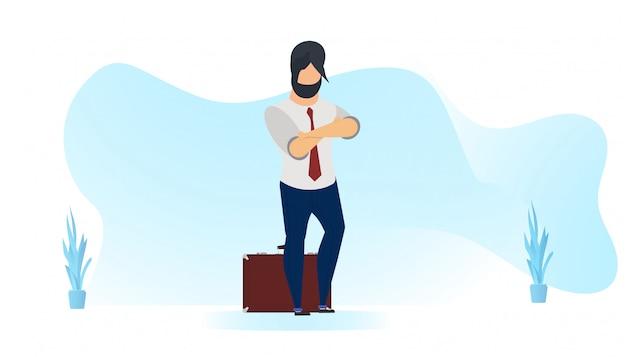 Homme d'affaires avec costume et formes ondulées