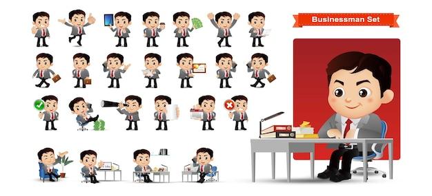Homme d'affaires définir les employés de bureau