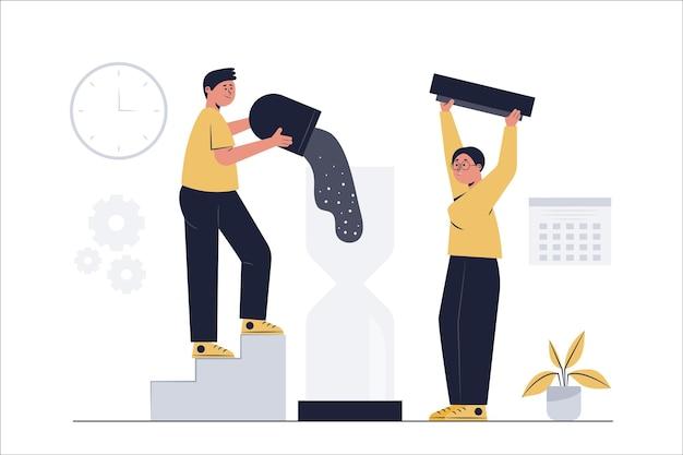 L'homme d'affaires demande plus de temps sur les plans d'affaires qui n'atteignent pas les objectifs