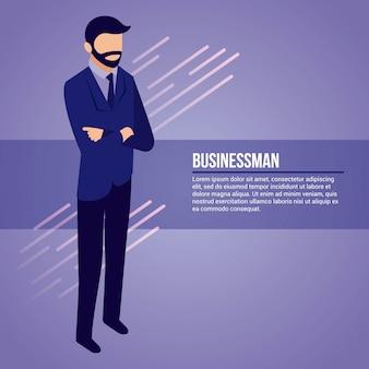 Homme d'affaires du réseau de données