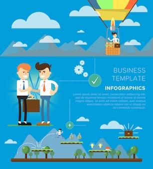 Homme d'affaires entreprise illustration