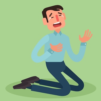 Homme d'affaires en faillite qui pleure