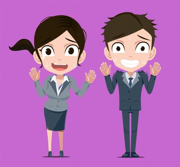 Homme d'affaires et femme refusent le travail