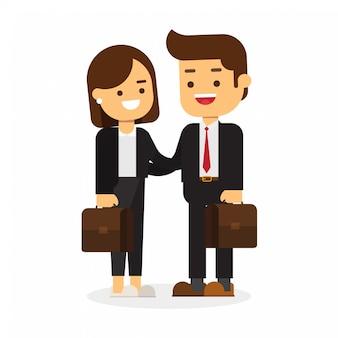 Homme d'affaires et femmes d'affaires au bureau