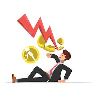 Homme d'affaires frappé par la faillite