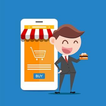 Homme d'affaires ou gestionnaire détiennent une carte de crédit dans sa main