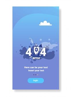 Homme d'affaires ouvert fusée 404 non trouvé message d'erreur internet concept de problème de connexion