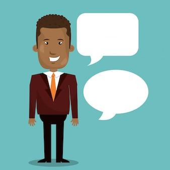 Homme d'affaires parlant