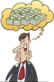 Homme d'affaires, penser à l'argent