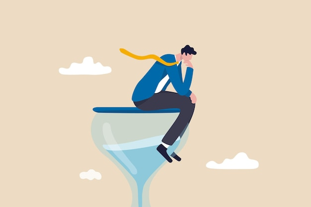 Homme d'affaires penseur pensant à une solution d'entreprise.