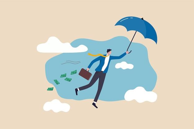 Homme d'affaires prospère devenir riche illustration