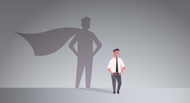 Homme d'affaires rêvant d'être super héros