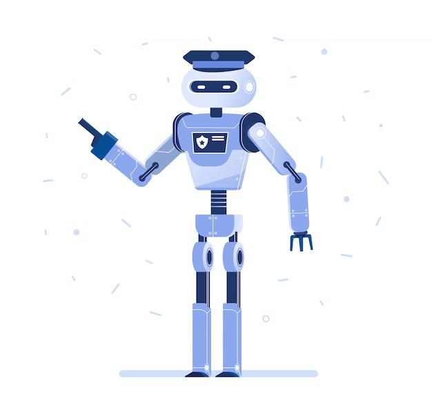 Homme d'affaires de robot avec une cravate.