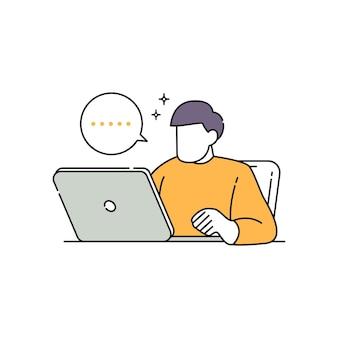 L'homme d'affaires sans visage pense à des solutions pour les entreprises