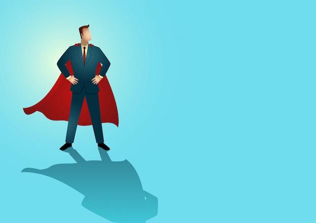 Homme d'affaires en tant que super-héros