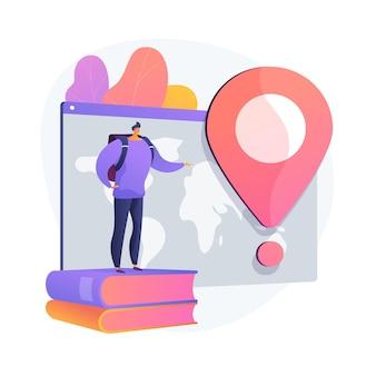 Homme en aventure de vacances. tourisme international, visite touristique mondiale, programme d'échange d'étudiants. touriste avec sac à dos voyageant à l'étranger.
