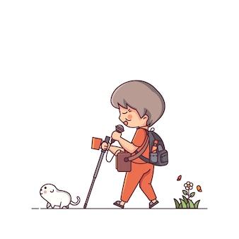 Homme aveugle et le chien