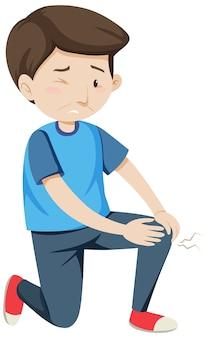 Homme ayant des douleurs articulaires