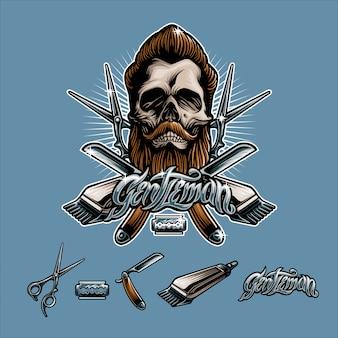 Homme barberskull