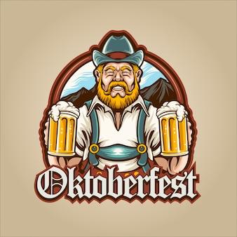 Homme de la bière oktoberfest