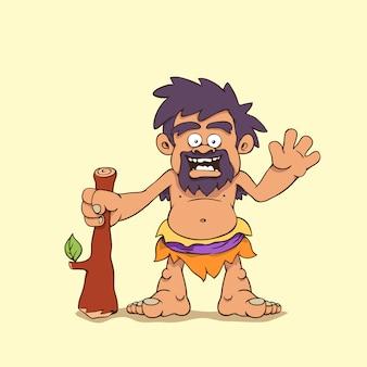 Homme des cavernes dessin animé