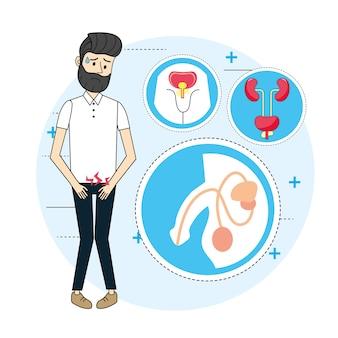 Homme avec diagnostic d'infection rénale