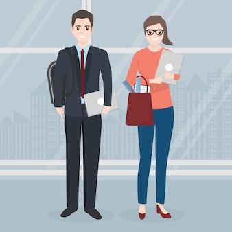 Homme et femme d'affaires
