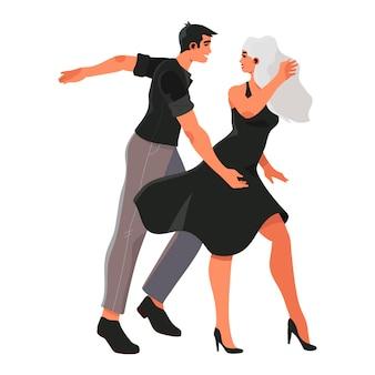 Homme femme, danse