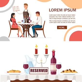 Homme et femme à la date au restaurant