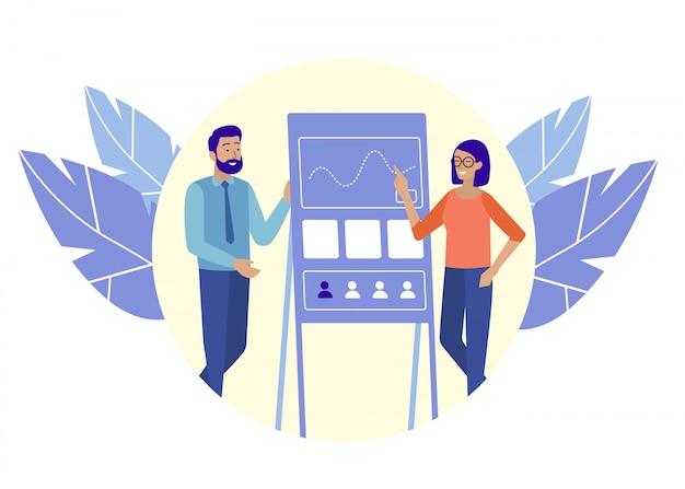 Homme et femme recherche activité communicative