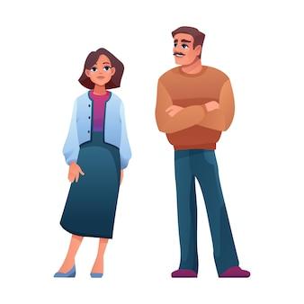 Homme et femme de tissu décontracté d'âge moyen âgé