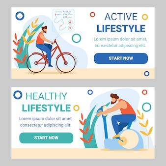 Homme formation en vélo d'exercice. sports cyclistes