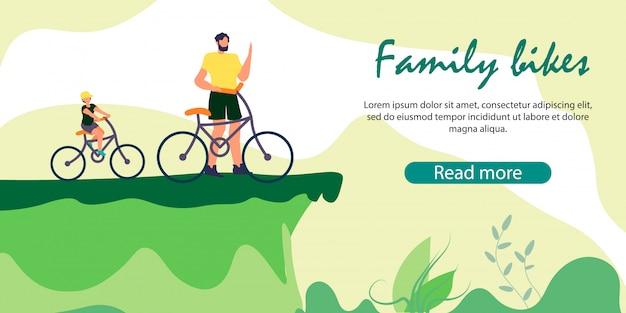 Homme et garçon sur les bicyclettes se tiennent sur le bord de la falaise