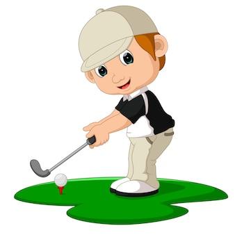 Homme de golfeur cartoon