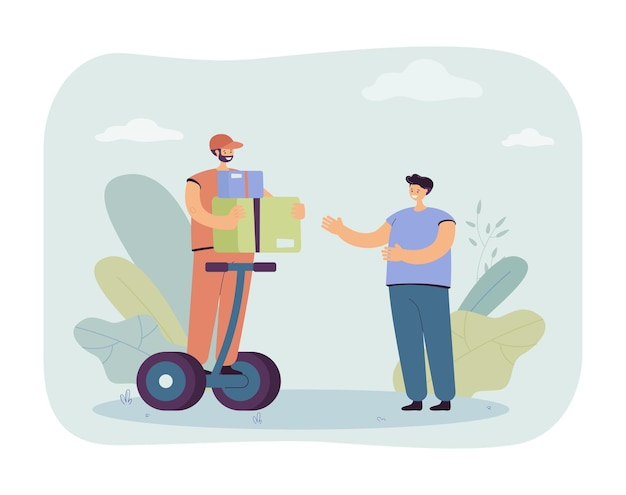 Homme livrant des marchandises illustration