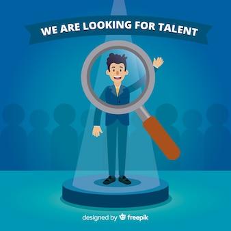 Homme loupe à la recherche de talent
