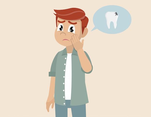 Un homme avec un mal de dents.