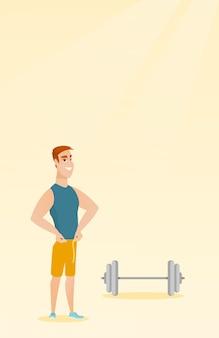Homme mesurant la taille