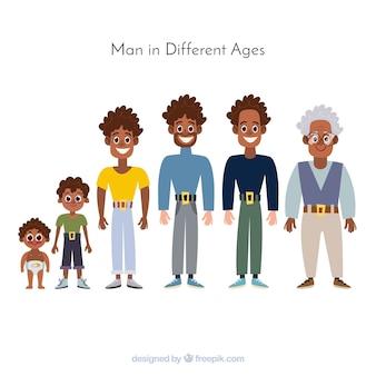 Homme noir à différents âges