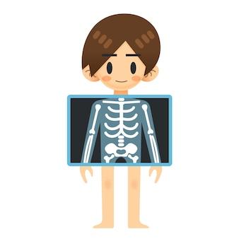 Homme patient avec écran à rayons x