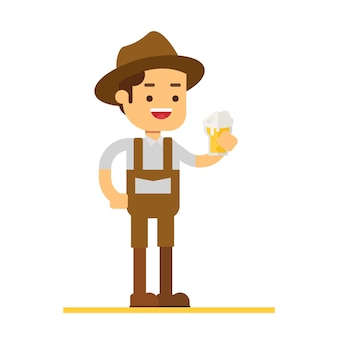Homme personnage avatar icon.beer